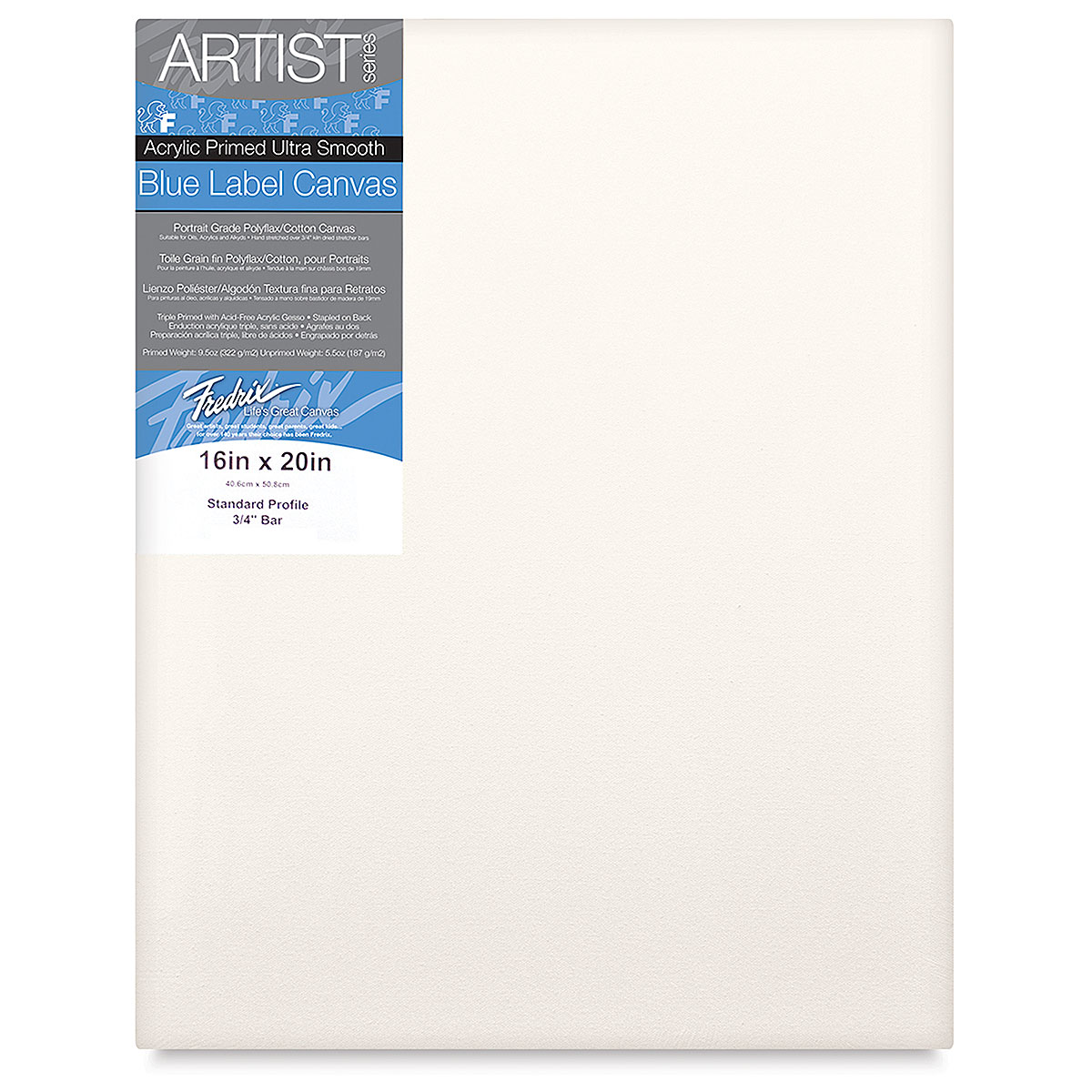 Fredrix 5 by 7-Inch Oval Stretched Canvas