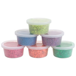 Hygloss Bucket O' Gravel - Assorted Neon Colors, Pkg of 6, 6 oz each