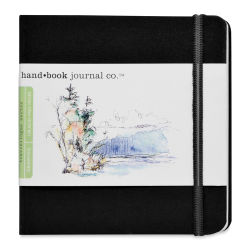 Hand Book Artist Journal - 5-1/2'' x 5-1/2'', Ivory Black, Square, 128 Pages