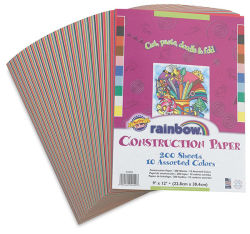 Rainbow Construction Paper, Pkg of 200 Sheets