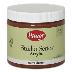 Utrecht Studio Series Acrylic Paint - Burnt Sienna, Pint