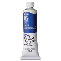 Holbein Duo Aqua Water Soluble Oils - Navy Blue, 40 ml tube