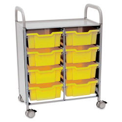 Gratnells Callero Storage Cart with 8 Deep Trays - Sunshine
