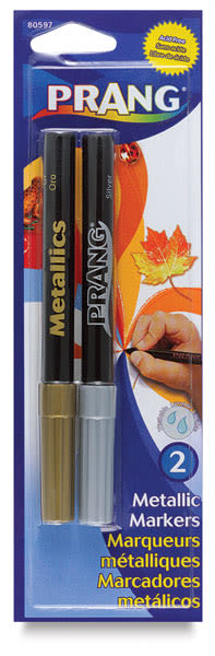 Art Markers, Silver/Gold Set of 2