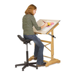 Alvin Synchro-Tilt Painter's Stool - Black