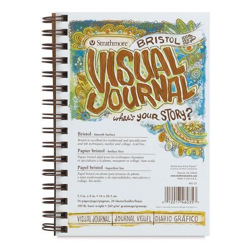 Strathmore Visual Journal - 8'' x 5 1/2'', Bristol (Smooth), 28 Sheets