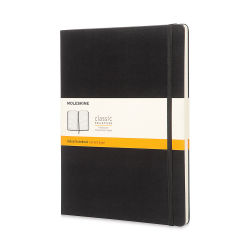 Moleskine Classic Hardcover Notebook - X-Large, 9-3/4'' x 7-1/2'', Lined, Black