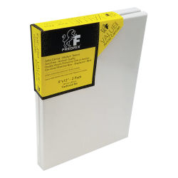 Fredrix Value Series Stretched Canvas - 9'' x 12'', Pkg of 2, Back Stapled