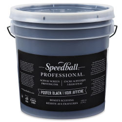 Speedball Professional Poster Black Screenprinting Ink - Black, Gallon