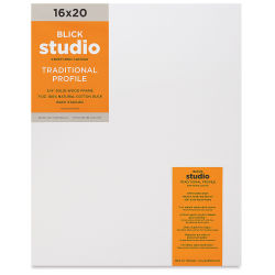Blick Studio Stretched Cotton Canvas - 16'' x 20'', 3/4'' Traditional Profile