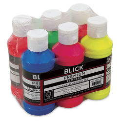 Blick Premium Grade Tempera - Fluorescent Colors, Set of 6, 4 oz