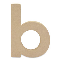 "DecoPatch Paper Mache Small Kraft Letter - B, Lowercase, 3-2/5"" W x 5"" H x 1/2"" D"
