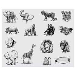 Mayco Designer Silkscreens - Zoo Animals