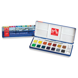 Caran d'Ache Gouache Studio Set - Set of 14 Pans w/White Tube