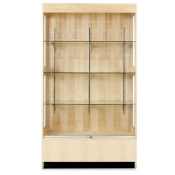 "Diversified Woodcrafts Premier Display Cabinet - 48"" x 84"", Front"