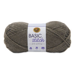 Lion Brand Basic Stitch Anti-Pilling Yarn - Taupe Heather, 185 yds