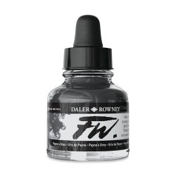 Daler-Rowney FW Acrylic Water-Resistant Artists Ink - 1 oz, Paynes Gray