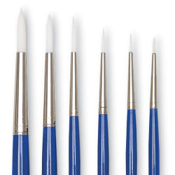 Wonder White Round Brushes, Set of 6, Short Handle