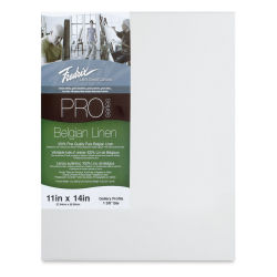 Fredrix Pro Series Traditional Profile Belgian Linen Canvas - 11'' x 14'', Acrylic Primed