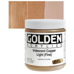 Golden Heavy Body Artist Acrylics - Iridescent Copper Light (Fine), 8 oz Jar