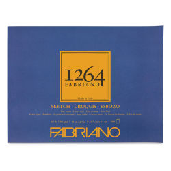 "Fabriano 1264 Sketch Pad, 18"" x 24"", Glue Bound, 100 Sheets, Landscape"