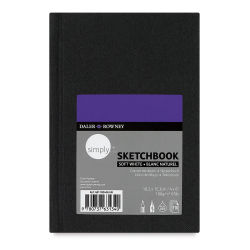 Daler-Rowney Simply Sketchbook - 6'' x 4'', Soft White, Hardbound, 110 Sheets