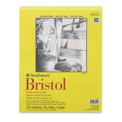 Strathmore 300 Series Bristol Pad - 11'' x 14'', Smooth, 20 Sheets