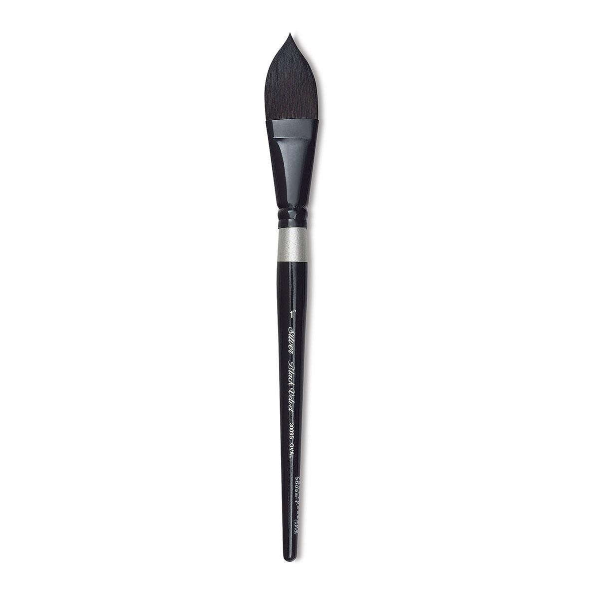 Silver Brush 3012S-014 Black Velvet Short Handle Blend Squirrel and Risslon Brush 1//4-Inch Dagger Striper
