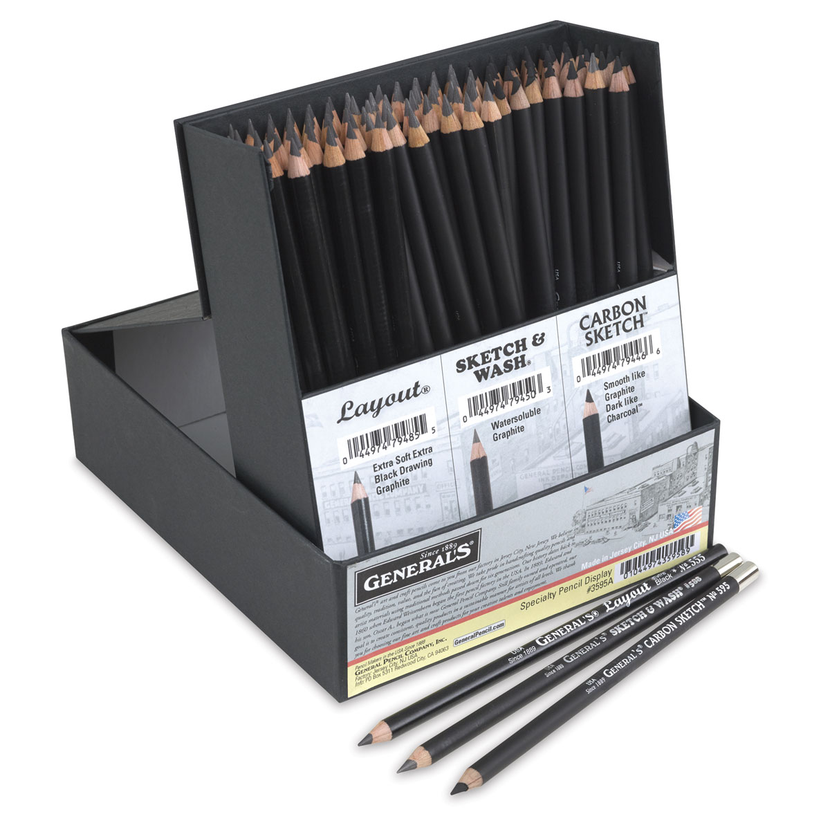 12-Count General/'s Layout Extra Black Pencils 12-Count Package