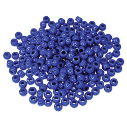 Craft Medley Barrel Pony Beads - Royal Blue, Package of 175