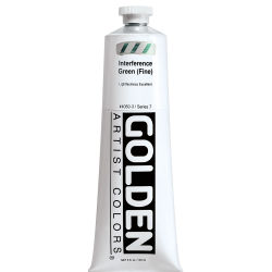 Golden Heavy Body Artist Acrylics - Interference Green (Fine), 5 oz tube