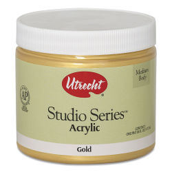 Utrecht Studio Series Acrylic Paint - Gold, Pint