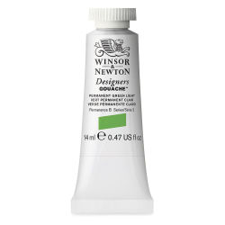 Winsor & Newton Designers Gouache - Permanent Green Light, 14 ml tube