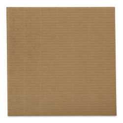 "Black Ink Corrugated E-Flute Decorative Papers - Kraft Brown, 12"" x 12"""