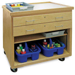 Mobile Arts Storage Cart without Doors