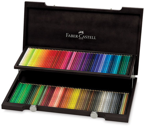 Faber-Castell Polychromos Pencil Set - Wood Box, Set of 120