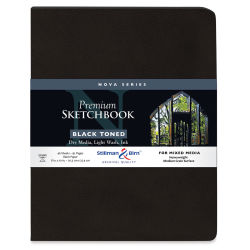 Stillman & Birn Nova Mixed Media Sketchbook - Black, 10'' x 8'', Softcover