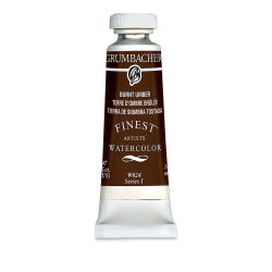Grumbacher Finest Artists' Watercolor - Burnt Umber, 14 ml tube