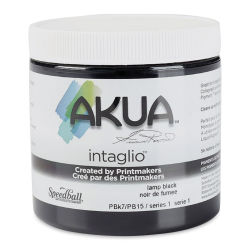 Akua Intaglio Ink - Lamp Black, 237 ml
