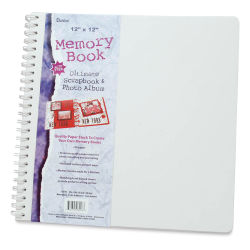 "Darice Scrapbook Album - Spiral-Bound, White, 12"" x 12"""