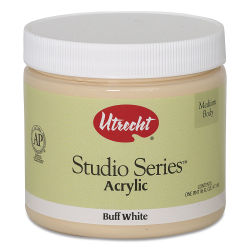 Utrecht Studio Series Acrylic Paint - Buff White, Pint