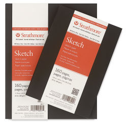 Strathmore Softcover 400 Series Sketch Artist Journal - 8'' x 5-1/2'', White, 60 lb, 160 Pages