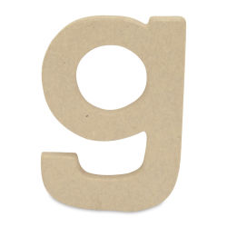 "DecoPatch Paper Mache Small Kraft Letter - G, Lowercase, 3-2/5"" W x 5"" H x 1/2"" D"