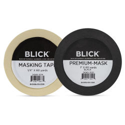 Blick Masking Tape, Natural and Black