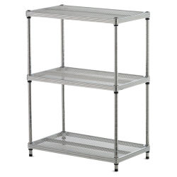 Design Ideas MeshWorks Shelving Units - Silver, 3-Tier