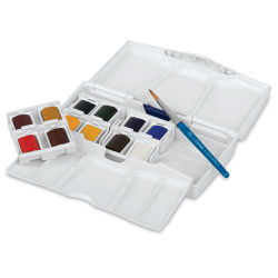 Winsor & Newton Cotman Watercolor Set - Pocket Plus Travel Set of 12