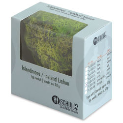 Schulcz Scale Model Foliage - Icelandic Lichen Moss, Green, 50 g (front of box)