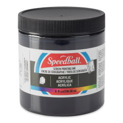 Speedball Permanent Acrylic Screen Printing Poster Ink - Black, 8 oz