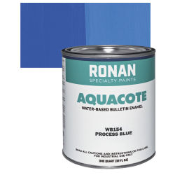 Ronan Aquacote Water-Based Acrylic Color - Process Blue, Quart