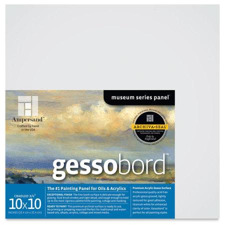 Ampersand Gessobord - 10'' x 10'', 3/4'' Cradled